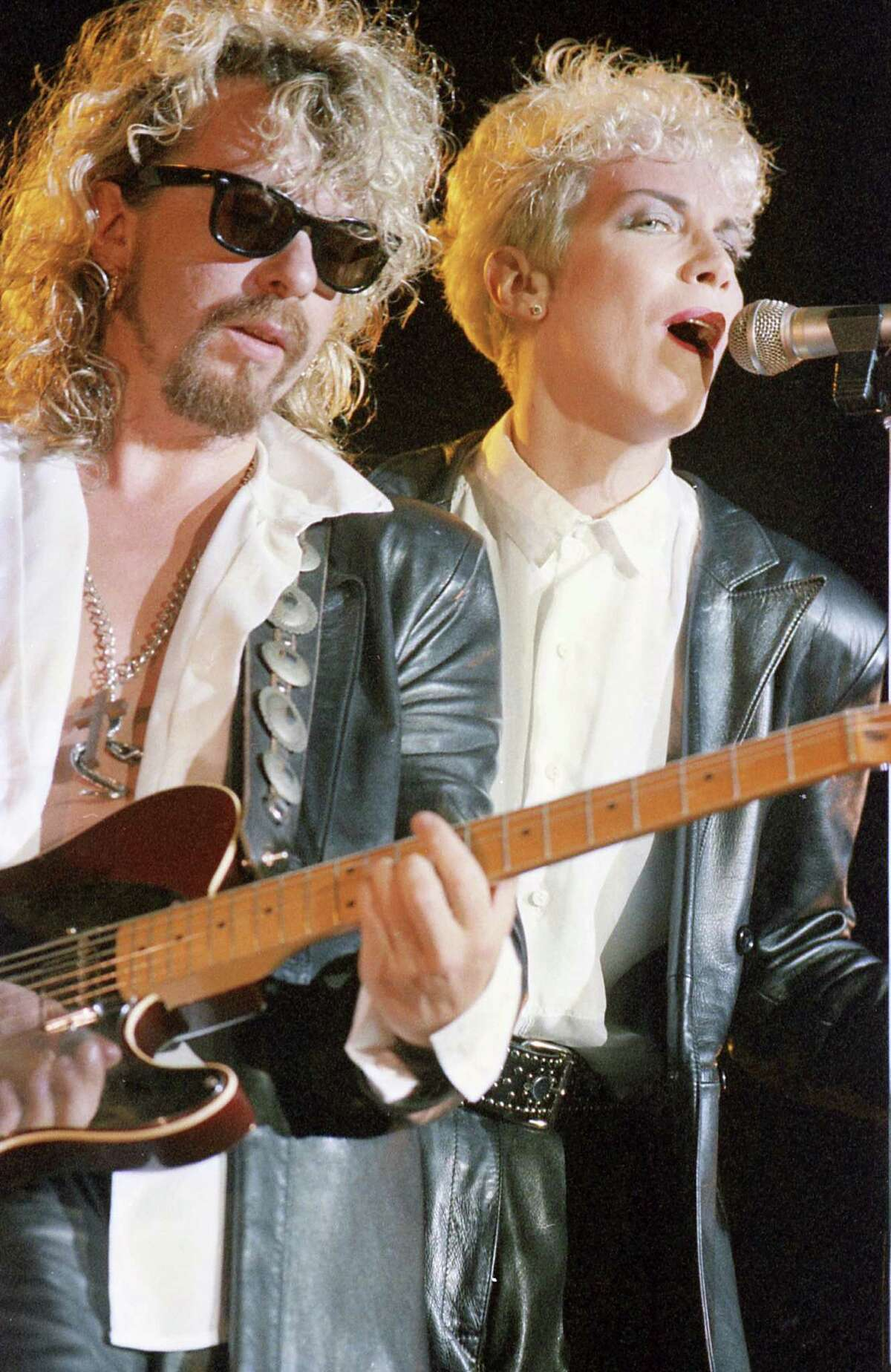 The Eurythmics, 1986 at Southern Star Amphitheater at Astroworld- Paula S.