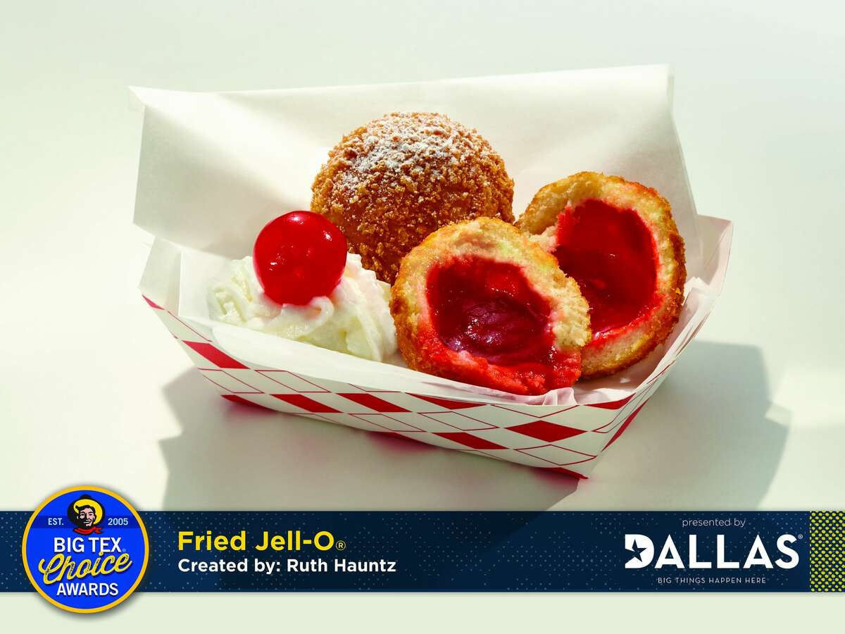 State Fair of Texas officials on Sunday announced that fried Jell-O was selected as Most Creative by a panel of judges. The State Fair Cookie Fries won Best Taste. The top two food winners for the upcoming expo in Dallas were just two of the eight finalists for the best culinary creations as part of the annual Big Tex Choice Awards.