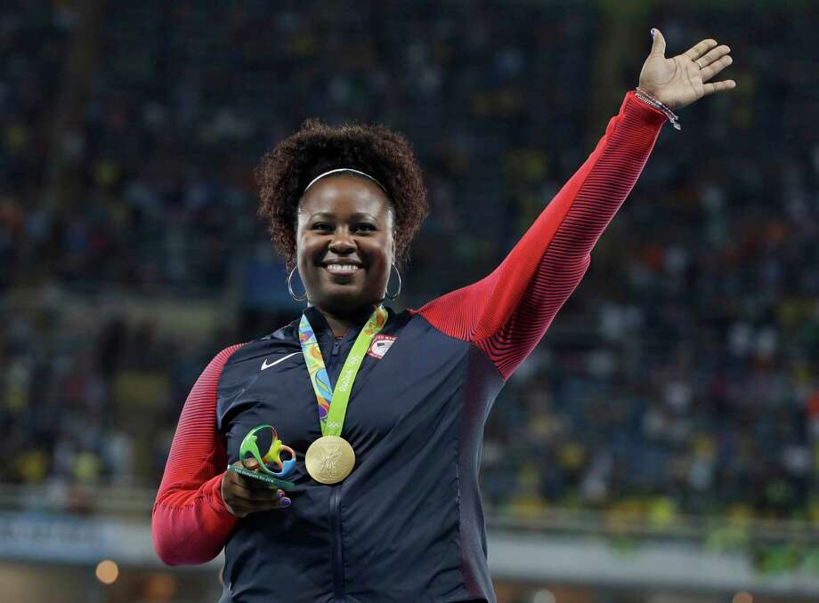 United States' Michelle Carter celebrates winning the gold medal in the women's shot put during the athletics competitions of the 2016 Summer Olympics at the Olympic stadium in Rio de Janeiro, Brazil, Saturday, Aug. 13, 2016. (AP Photo/Kirsty Wigglesworth) ORG XMIT: OATH224 Photo: Kirsty Wigglesworth / Copyright 2016 The Associated Press. All rights reserved. This m