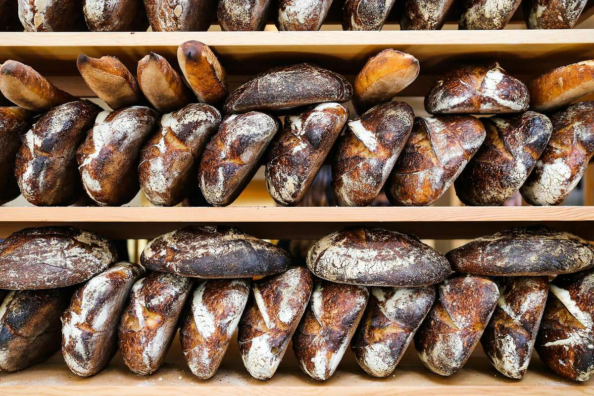 Loafs of bread are seen on display at Tartine Manufactory in San Francisco, California, on Wednesday, Aug. 17, 2016.