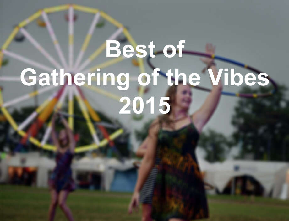 Eighteen-year-old Lily Clancy, of Marshfield, Mass., dances as the band Strangefolk performs on the main stage during the 20th annual Gathering of the Vibes music festival Thursday, July 30, 2015 at Seaside Park in Bridgeport, Conn. This is Clancy's fourth year camping at the Vibes. She learned how to hula hoop dance and even make her own hoops from other festival goers, she said. Photo: Autumn Driscoll/Hearst Connecticut Media