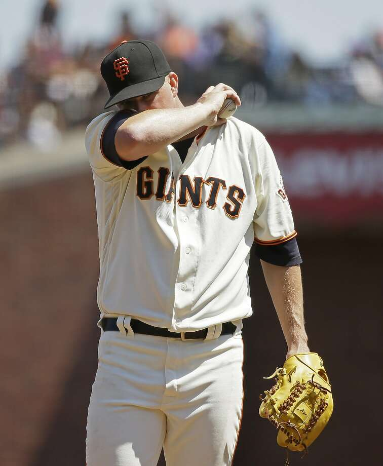 Matt Cain was nearly unhittable through four innings Wednesday. But then he fell apart in the fifth, when Pittsburgh scored all six of its runs. Photo: Eric Risberg, Associated Press