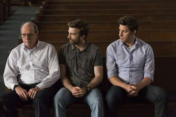 "Richard Jenkins as Don Hollar, Sharlto Copley as Ron Hollar, John Krasinski as John Hollar in ""The Hollars,"" opening at Bay Area theaters on Friday, Sept. 2. Photo by Jonny Cournoyer, Courtesy of Sony Pictures Classics."