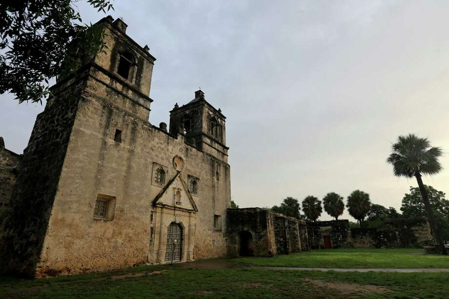 A view of the church at Mission Concepción in 2016. Of at least four historic churches that Antonio Tello worked on in the 1700s, the one at  Concepcion most fully reflects his original design, according to missions archaeologist and researcher James Ivey. Photo: Edward A. Ornelas /San Antonio Express-News / © 2016 San Antonio Express-News