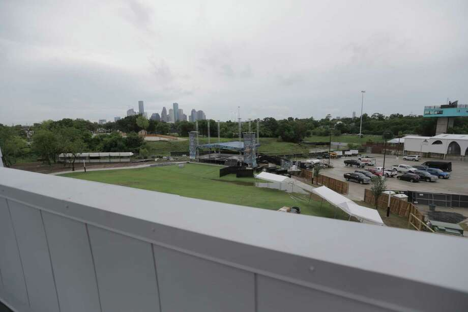 The view from the roof-top where VIP seating will be available at White Oak Music Hall, photographed on Tuesday, Aug. 16, 2016, in Houston. ( Elizabeth Conley / Houston Chronicle ) Photo: Elizabeth Conley, Staff / © 2016 Houston Chronicle