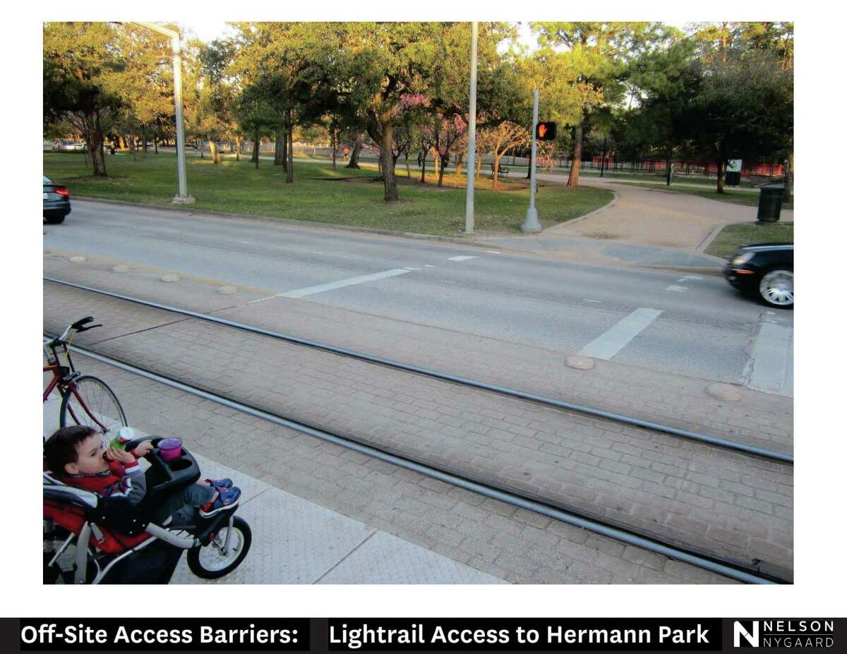 The transportation consultant Nelson/Nygaard has found numerous barriers to access around Hermann Park that will be addressed in Michael Van Valkenburgh Associates' 20-year master plan.