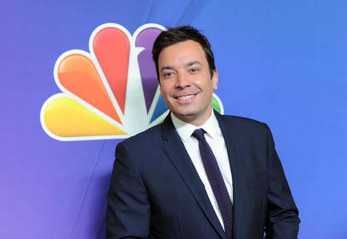 """FILE - In this May 12, 2014 file photo, """"The Tonight Show"""" host Jimmy Fallon attends the NBC Network 2014 Upfront presentation at the Javits Center in New York. NBC said Monday that it will produce episodes of """"Tonight"""" and other programs specifically for Snapchat under a multi-year deal. (Photo by Evan Agostini/Invision/AP, File)"""
