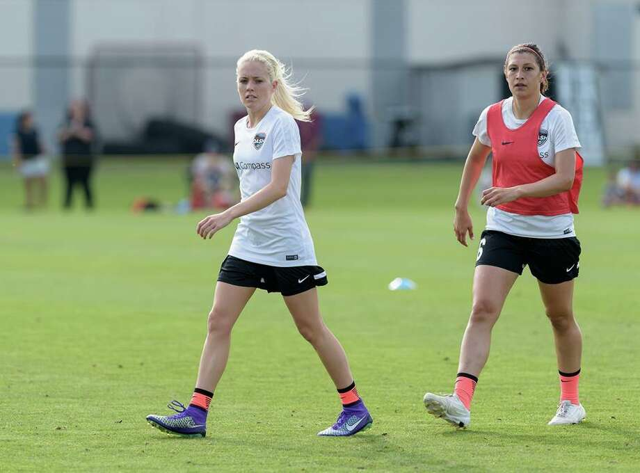 Denise O'Sullivan, left, Houston Dash