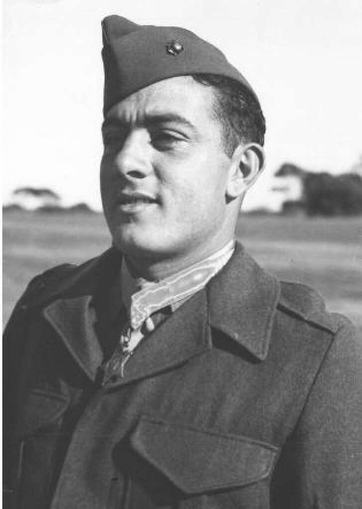 USMC Gunnery Sgt. John Basilone was awarded the Medal of Honor in World War II. He later died in combat at Iwo Jima.