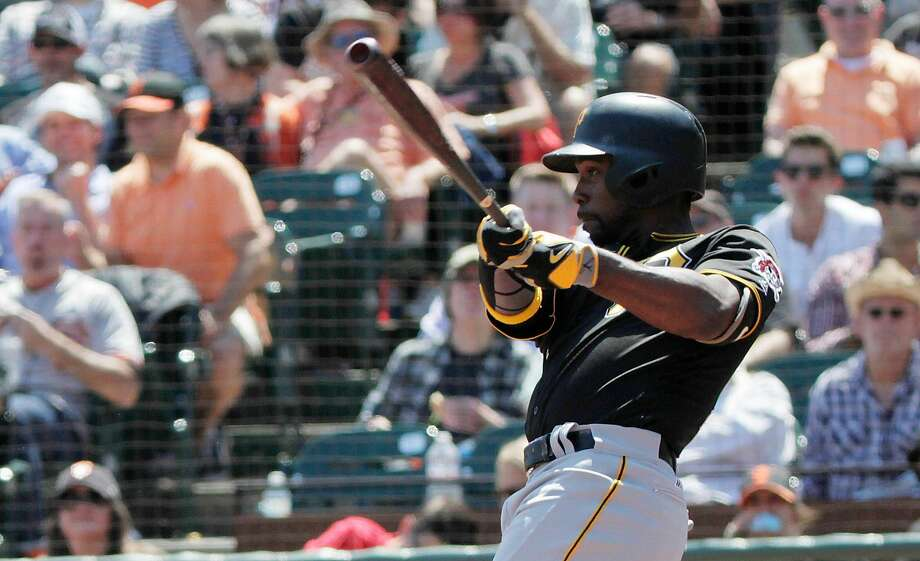 Andrew McCutchen of the Pittsburgh Pirates hits in a home run in the top of fifth as the San Francisco Giants play the Pittsburgh Pirates on Wednesday, August 17,  2016 in San Francisco, California. Final Score: Pittsburgh Pirates: 6 San Francisco Giants: 5 Photo: Lea Suzuki, The Chronicle