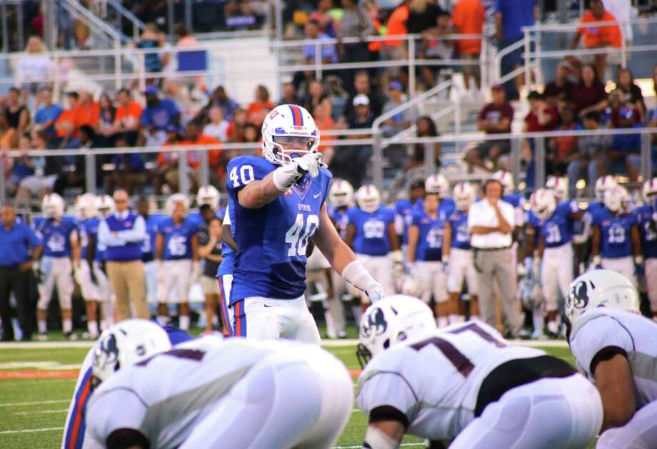 Houston Baptist linebacker Garrett Dolan. Photo: Erik Williams / handout