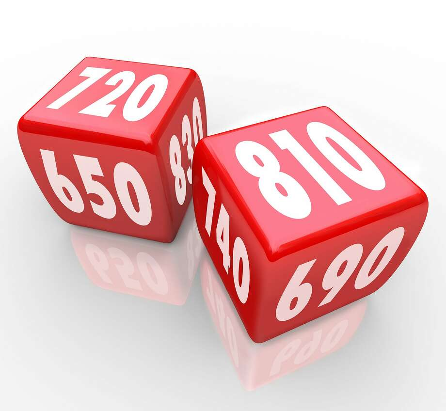 Two red dice with credit scores on their faces    Fotolia for Francis Photo: IQoncept, IQoncept - Fotolia