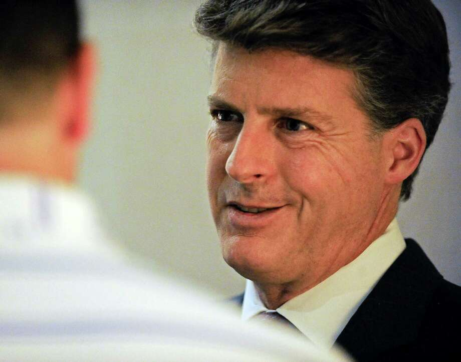 New York Yankees owner Hal Steinbrenner talks to the media at the baseball owners' meetings, Wednesday, Aug. 17, 2016, in Houston. (AP Photo/Eric Christian Smith) ORG XMIT: TXES106 Photo: Eric Christian Smith / FR171023 AP
