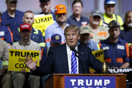 Republican presidential candidate Donald Trump speaks during a campaign rally, Wednesday, Aug. 10, 2016, in Abingdon, Va. (AP Photo/Evan Vucci)