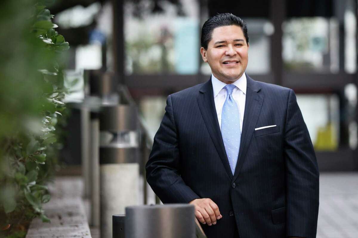San Francisco's superintendent, Richard Carranza stands for a portrait outside his office in San Francisco, California on Monday, January 4, 2016.