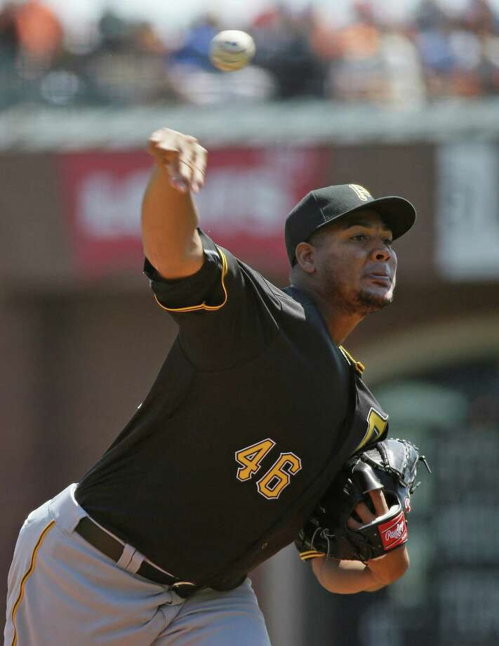 Pittsburgh Pirates starting pitcher Ivan Nova throws in the first inning of a baseball game against the San Francisco Giants, Wednesday, Aug. 17, 2016, in San Francisco. (AP Photo/Eric Risberg) ORG XMIT: FXPB101 Photo: Eric Risberg / Copyright 2016 The Associated Press. All rights reserved. This m