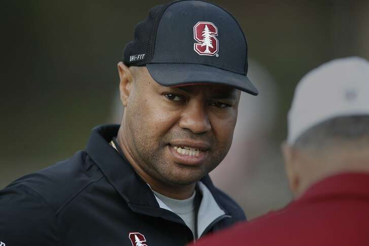 Head coach David Shaw as the Stanford University Cardinal football team holds practice in Stanford, California, on Wed. Aug. 17, 2016.