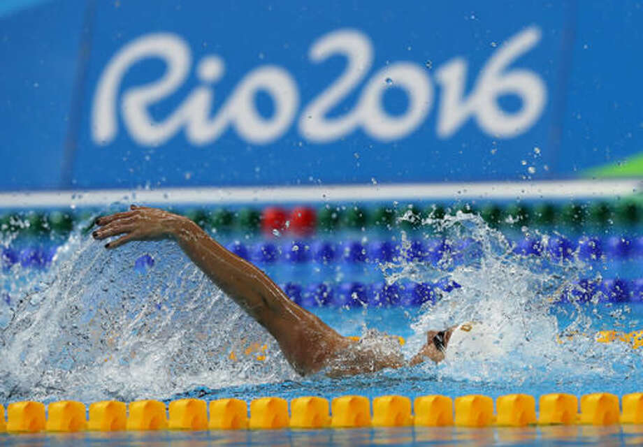 Hungary's Katinka Hosszu swims during a women's 200-meter backstroke heat during the swimming competitions at the 2016 Summer Olympics, Thursday, Aug. 11, 2016, in Rio de Janeiro, Brazil. (AP Photo/Lee Jin-man) Photo: Lee Jin-man