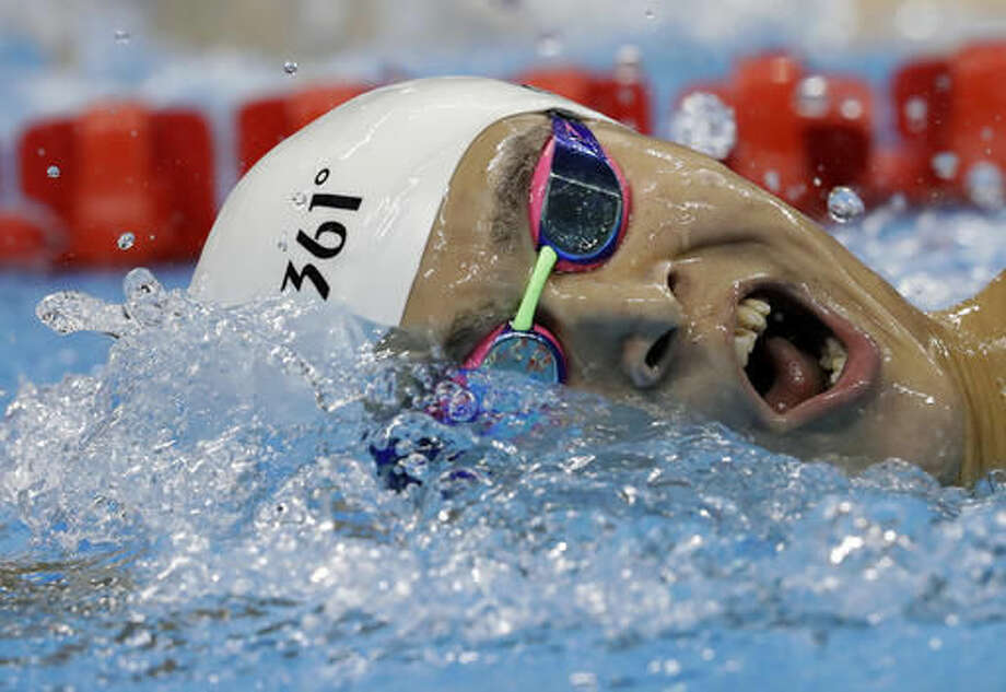 China's Sun Yang competes during a men's 1500-meter freestyle heat during the swimming competitions at the 2016 Summer Olympics, Friday, Aug. 12, 2016, in Rio de Janeiro, Brazil. (AP Photo/Michael Sohn) Photo: Michael Sohn
