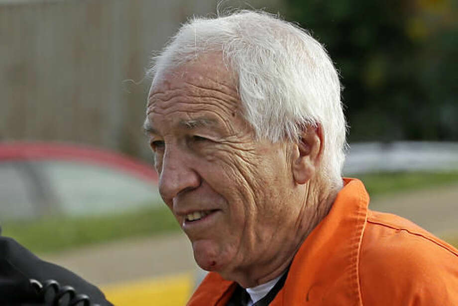 Former Penn State University assistant football coach Jerry Sandusky arrives at the Centre County Courthouse for an appeals hearing about whether he was improperly convicted four years ago, in Bellefonte, Pa. Friday, Aug. 12, 2016. (AP Photo/Gene J. Puskar) Photo: Gene J. Puskar