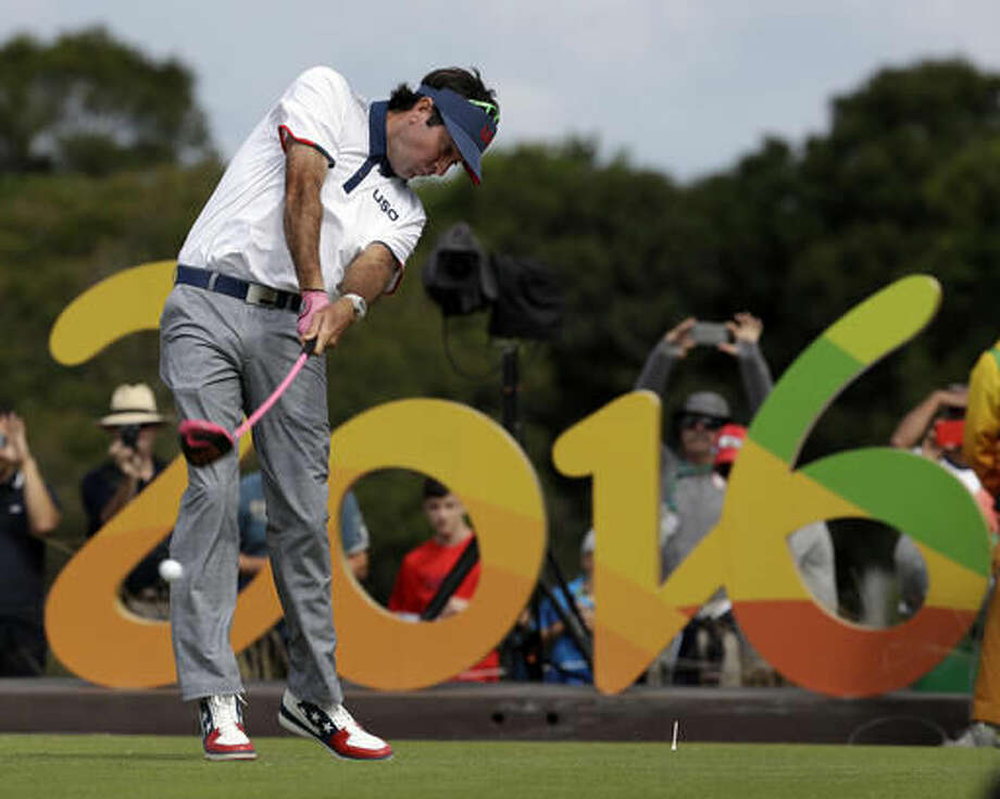 Bubba Watson of the United States, tees on the 16th hole during the first round of the men's golf event at the 2016 Summer Olympics in Rio de Janeiro, Brazil, Thursday, Aug. 11, 2016. (AP Photo/Alastair Grant) Photo: Alastair Grant