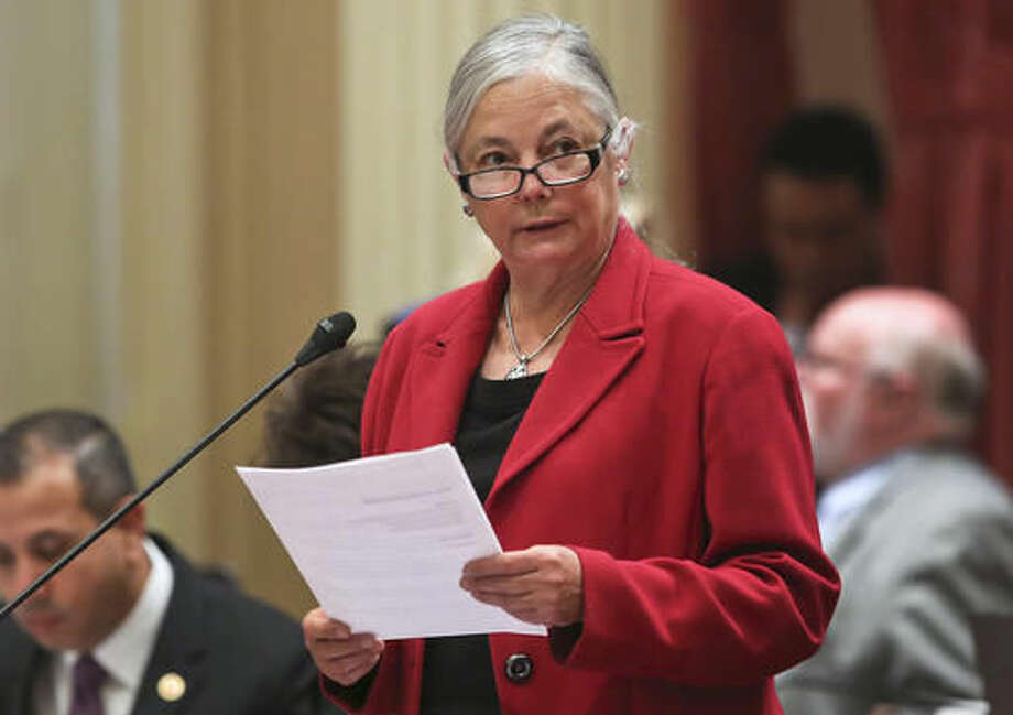 FILE- In this April 23, 2015, file photo Sen. Fran Pavley, D-Agoura Hills, chair of Senate Natural Resources and Water Committee addresses the Senate at the Capitol in Sacramento, Calif. Proposed legislation in California would require insurance companies to provide up to a 12-month supply of the pill, ring or patch instead of short-term prescriptions. The bill, written by Pavley has cleared the state Senate and must pass the Assembly before the end of August 2016. (AP Photo/Rich Pedroncelli, File) Photo: Rich Pedroncelli