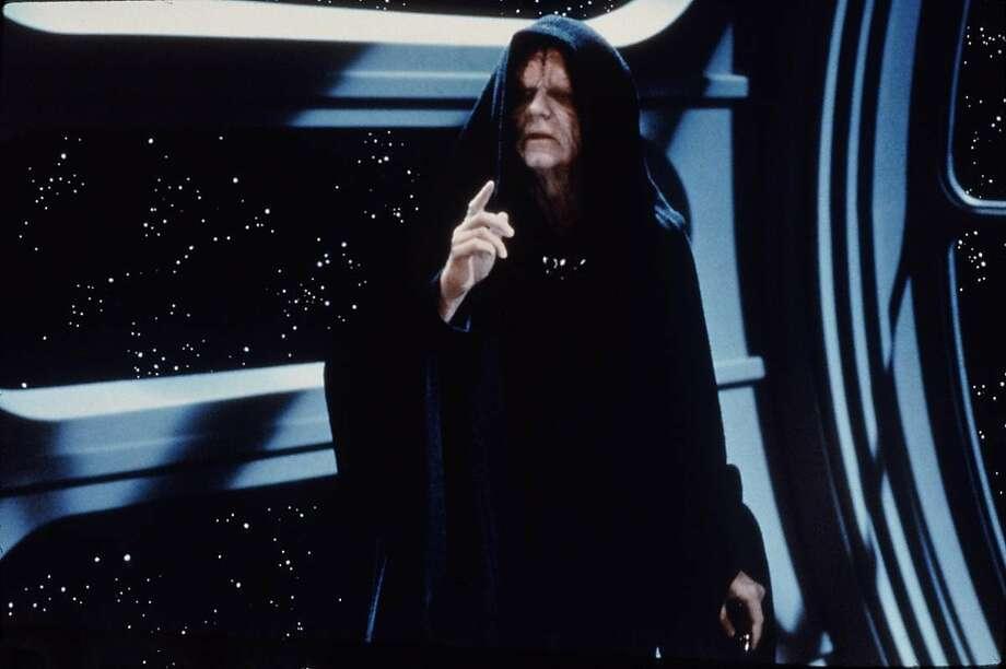 """Ian McDiarmid as Emperor Palpatine in a scene from """"Return of the Jedi"""" Photo: ALBERT CLARKE, LUCASFILM"""