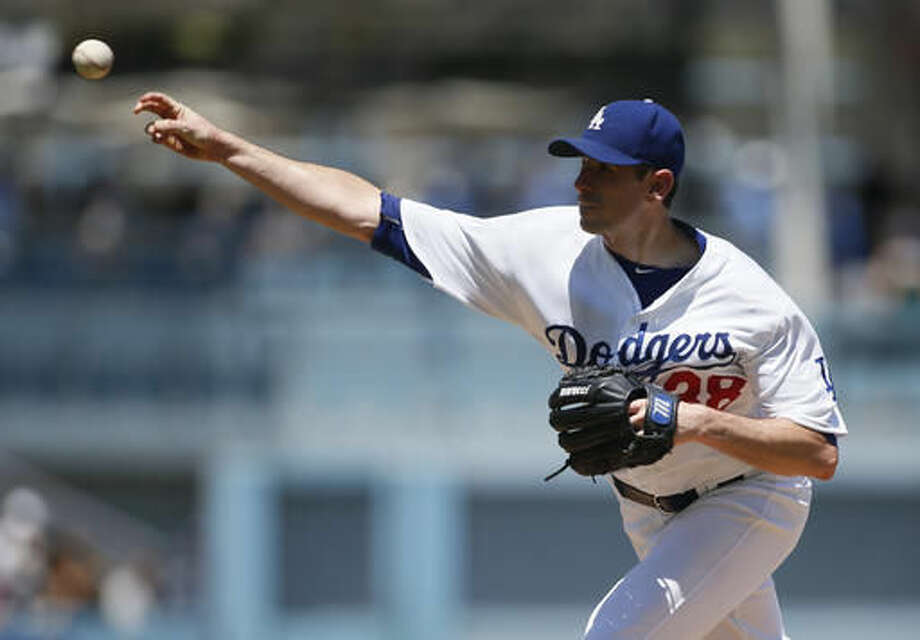 Los Angeles Dodgers starting pitcher Brandon McCarthy delivers against the Pittsburgh Pirates during the first inning of a baseball game, Saturday, Aug. 13, 2016, in Los Angeles. (AP Photo/Danny Moloshok) Photo: Danny Moloshok