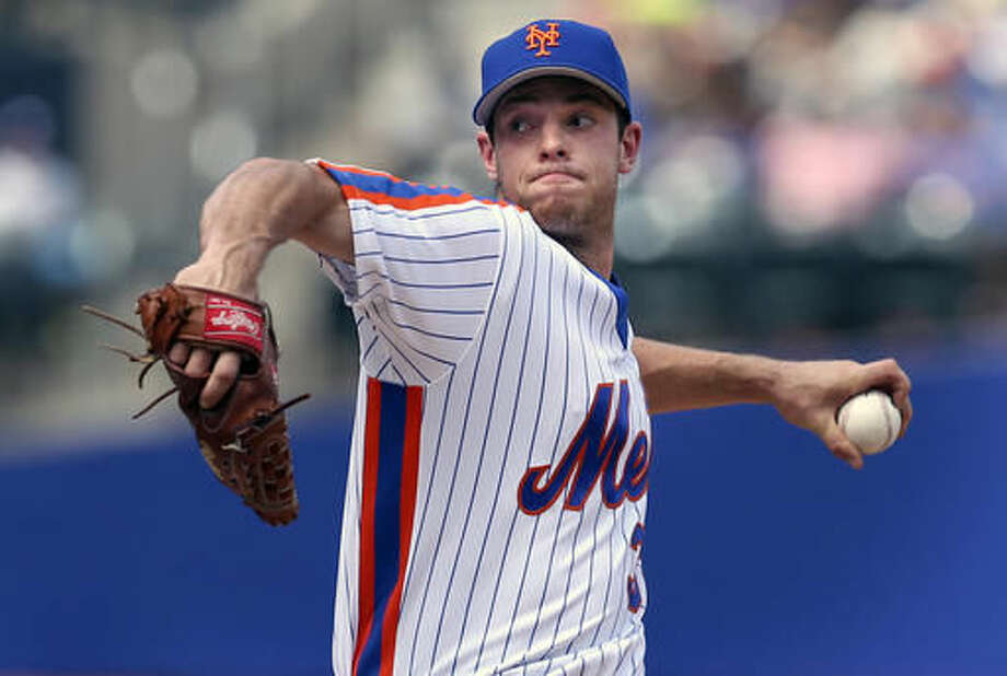 New York Mets starting pitcher Steven Matz throws during the first inning of a baseball game against the San Diego Padres, Sunday, Aug. 14, 2016 in New York. (AP Photo/Seth Wenig) Photo: Seth Wenig
