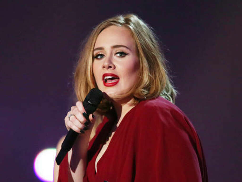 FILE - In this Feb. 24, 2016 file photo shows Adele onstage at the Brit Awards 2016 at the 02 Arena in London. Multiple Grammy Award-winning singer Adele says she turned down an offer to perform at the 2017 Super Bowl halftime show. The British singer told an audience Saturday, Aug. 13, 2016, at her Los Angeles concert that she was asked to perform at the event. (Photo by Joel Ryan/Invision/AP, File) Photo: Joel Ryan