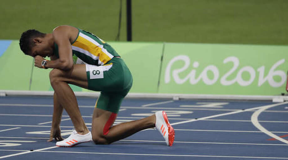 South Africa's Wayde Van Niekerk wins the men's 400-meter final during the athletics competitions of the 2016 Summer Olympics at the Olympic stadium in Rio de Janeiro, Brazil, Sunday, Aug. 14, 2016. ( (AP Photo/Natacha Pisarenko) Photo: Natacha Pisarenko