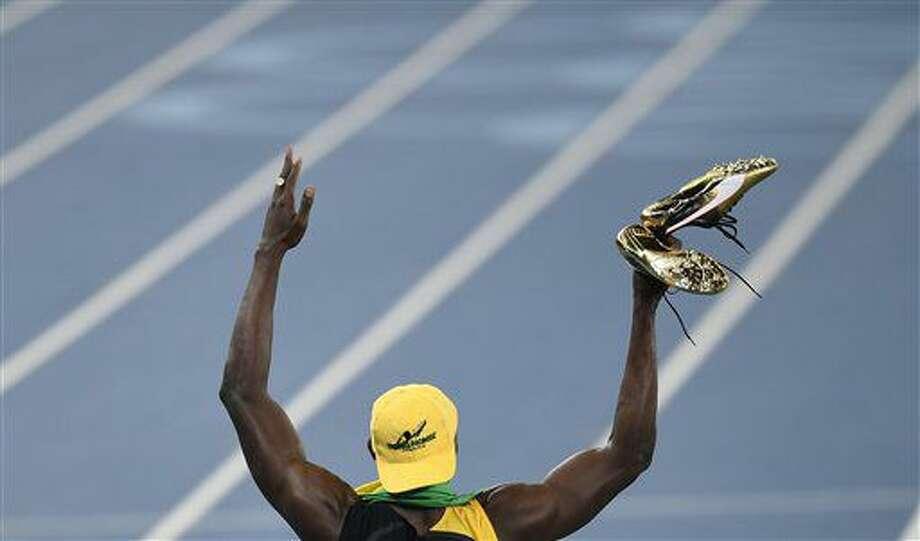 El jamaiquino Usain Bolt festeja tras ganar los 100 metros en los Juegos Olímpicos de Río de Janeiro el domingo, 14 de agosto de 2016. (AP Photo/Martin Meissner) Photo: Martin Meissner