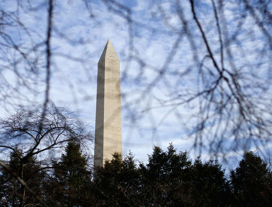 FILE - This March 13, 2015, file photo shows the Washington Monument in Washington. The monument is closed again due to problems with its elevator. The National Park Service says in a statement the monument opened briefly Sunday, Aug. 14, 2016, before the elevator got stuck at the 490 feet level. The monument was closed for nearly a week in July because of elevator problems. (AP Photo/Carolyn Kaster, File) Photo: Carolyn Kaster