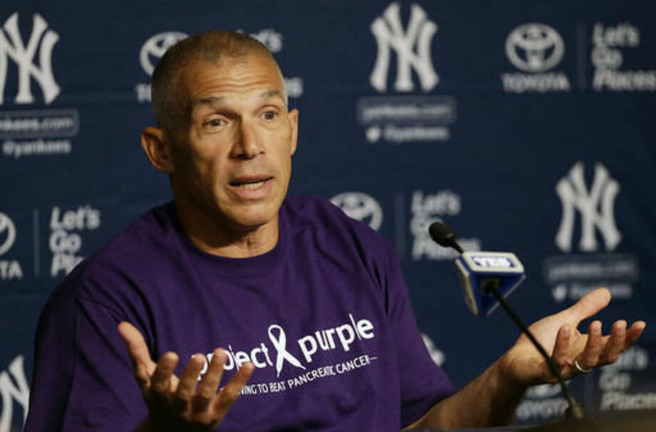 New York Yankees manager Joe Girardi speaks during a news conference prior to a game against the Tampa Bay Rays on Friday, Aug. 12, 2016, in New York. (AP Photo/Adam Hunger) Photo: Adam Hunger