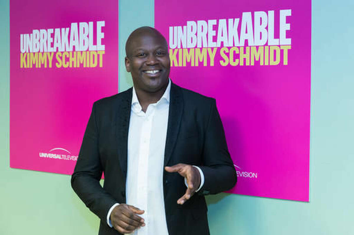 """FILE - In this June 6, 2016 file photo, Tituss Burgess arrives at the """"Unbreakable Kimmy Schmidt"""" in Los Angeles. Burgess will participate in the second annual Elsie Fest, a one-day outdoor music festival celebrating theater stars, is set for Sept. 5 at the 5,000-seat Ford Amphitheater. (Photo by Willy Sanjuan/Invision/AP, File)"""