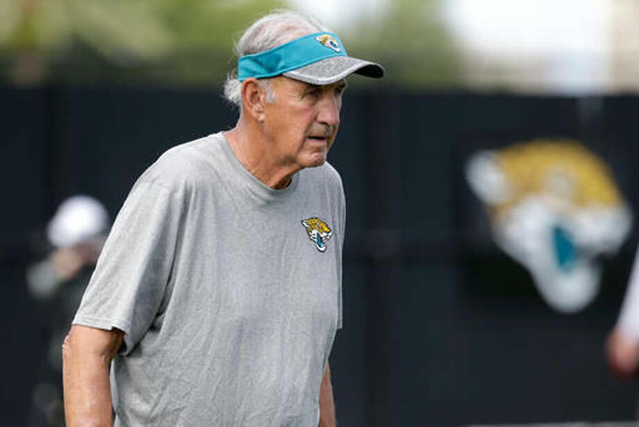 FILe - In this July 30, 2016, file photo, Jacksonville Jaguars defensive assistant Monte Kiffin watches practice during NFL football training camp, in Jacksonville, Fla. Kiffin didn't handle retirement very well. So the 76-year-old got back into coaching after a one-year hiatus and is helping Jacksonville Jaguars coach Gus Bradley revamp one of the worst defenses in the NFL. (AP Photo/John Raoux, File) Photo: John Raoux