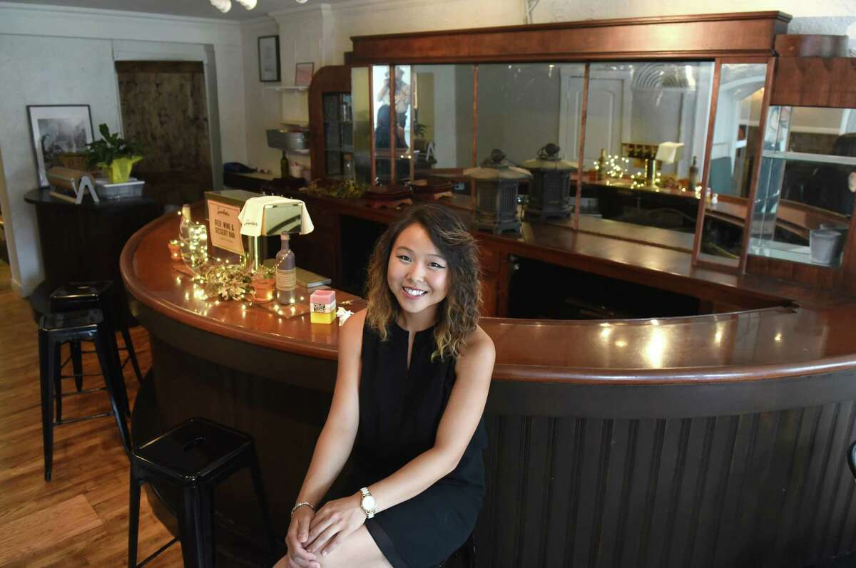 Sunhee's Farm & Kitchen owner Jinah Kim on Friday Aug. 12, 2016 in Troy, N.Y. (Michael P. Farrell/Times Union)