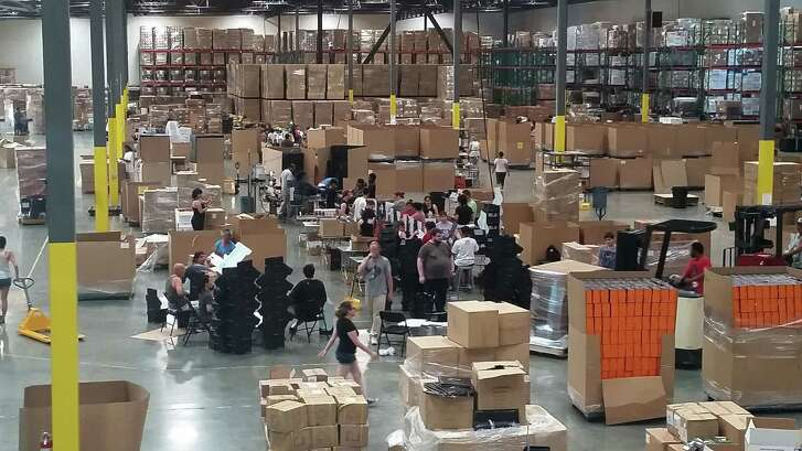 Loot Crate's global fulfillment center in Bell, California, ships thousands of logo'ed subscription boxes monthly. MUST CREDIT: Loot Crate.