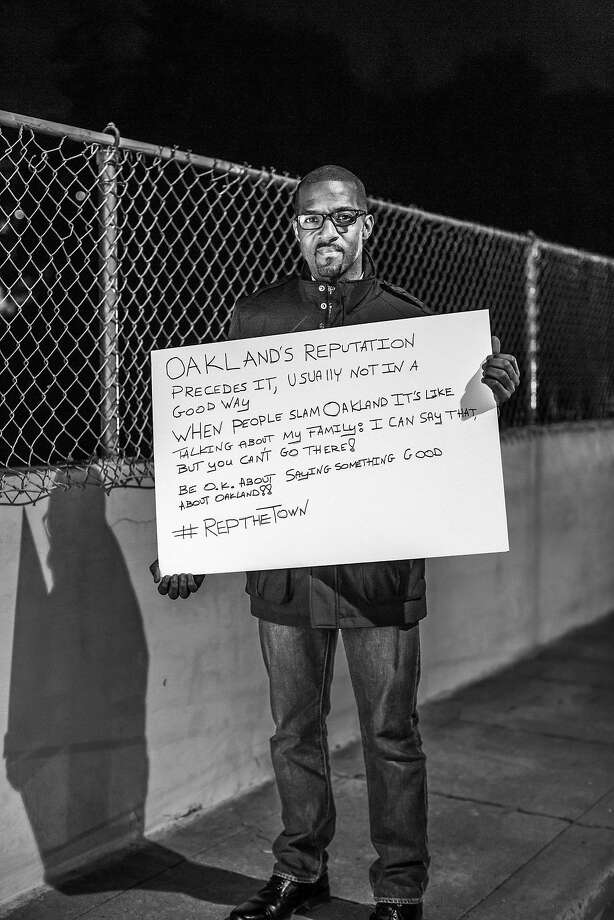 James Jackson of Oakland's Oakmore neighborhood, and his message, are featured in the project. Photo: Stephen Texeira