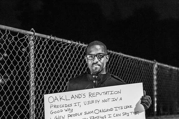 James Jackson, a resident of Oakland's Oakmore Neighborhood. Shot February 4, 2014.