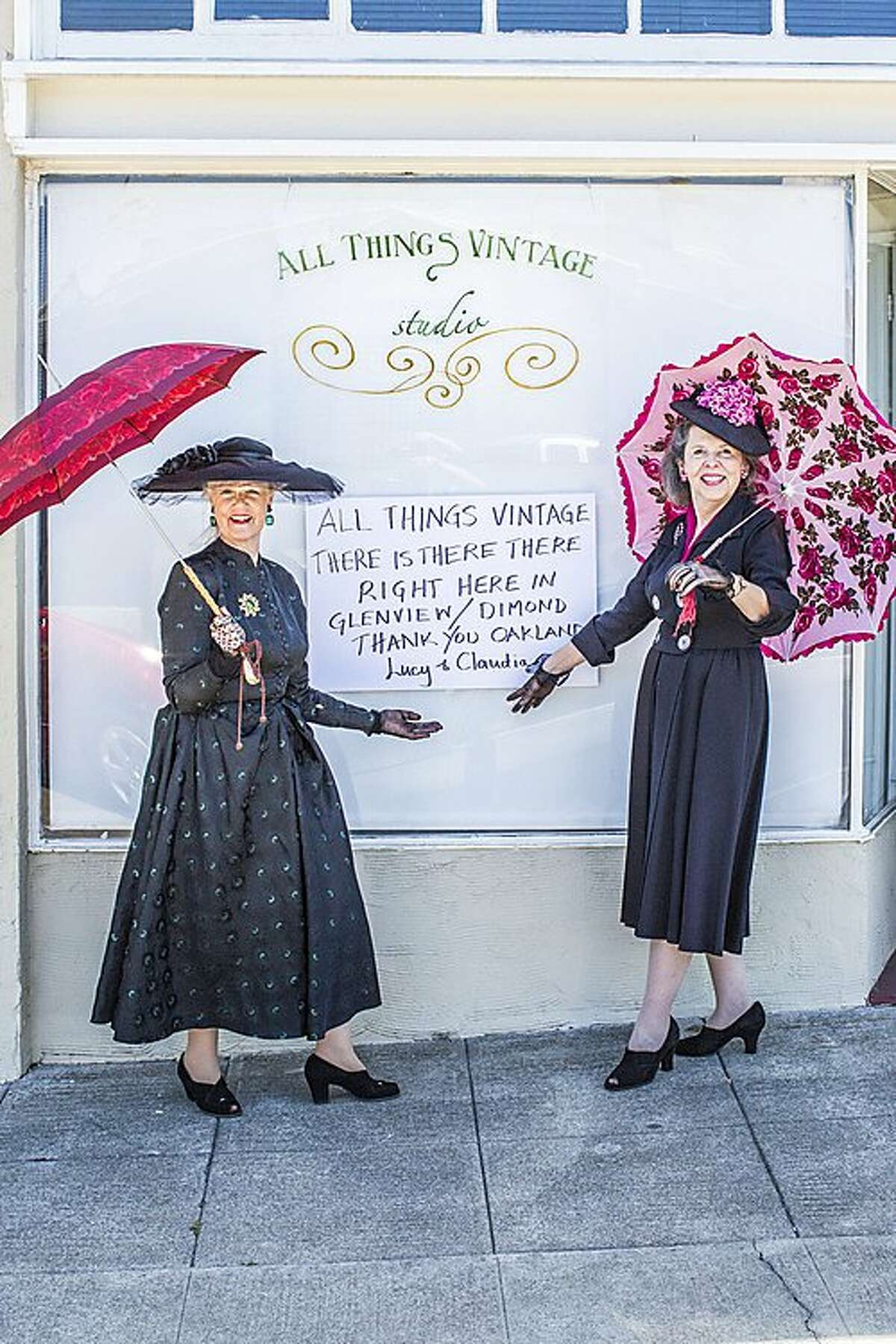 Lucinda and Claudia have a shop, All Things Vintage, in Oakland's Glenview neighborhood