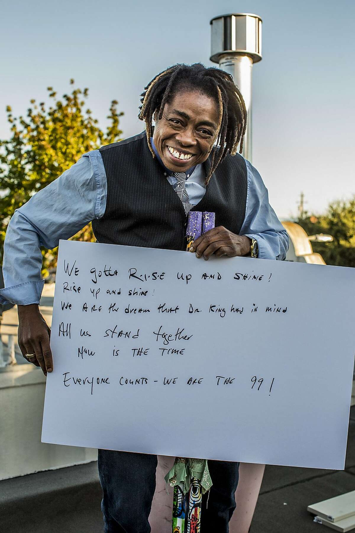 Melanie DeMore, singer, composer, lives in Oakland's Clinton neighborhood