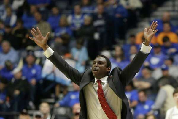 Alabama head coach Avery Johnson reacts to a call during the first half of an NCAA college basketball game against Kentucky in the Southeastern Conference tournament in Nashville, Tenn., Friday, March 11, 2016.