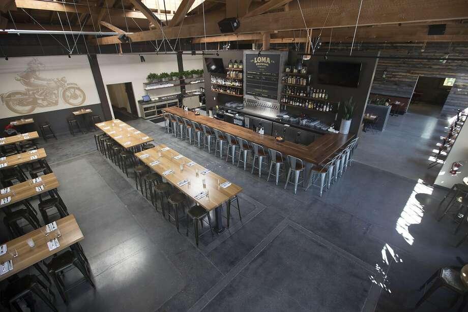The vast interior of Loma Brewing Company in Los Gatos. Photo: Travis Mocker