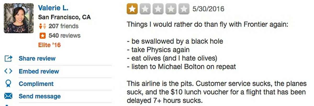 Flying Frontier is worse than listening to Michael Bolton?