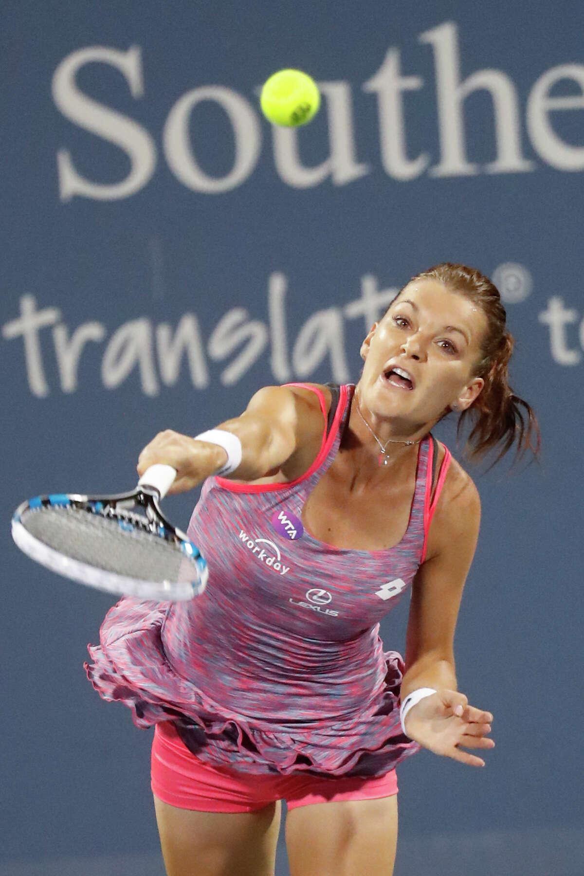 Agnieszka Radwanska, of Poland earned a wildcard into the Connecticut Open.