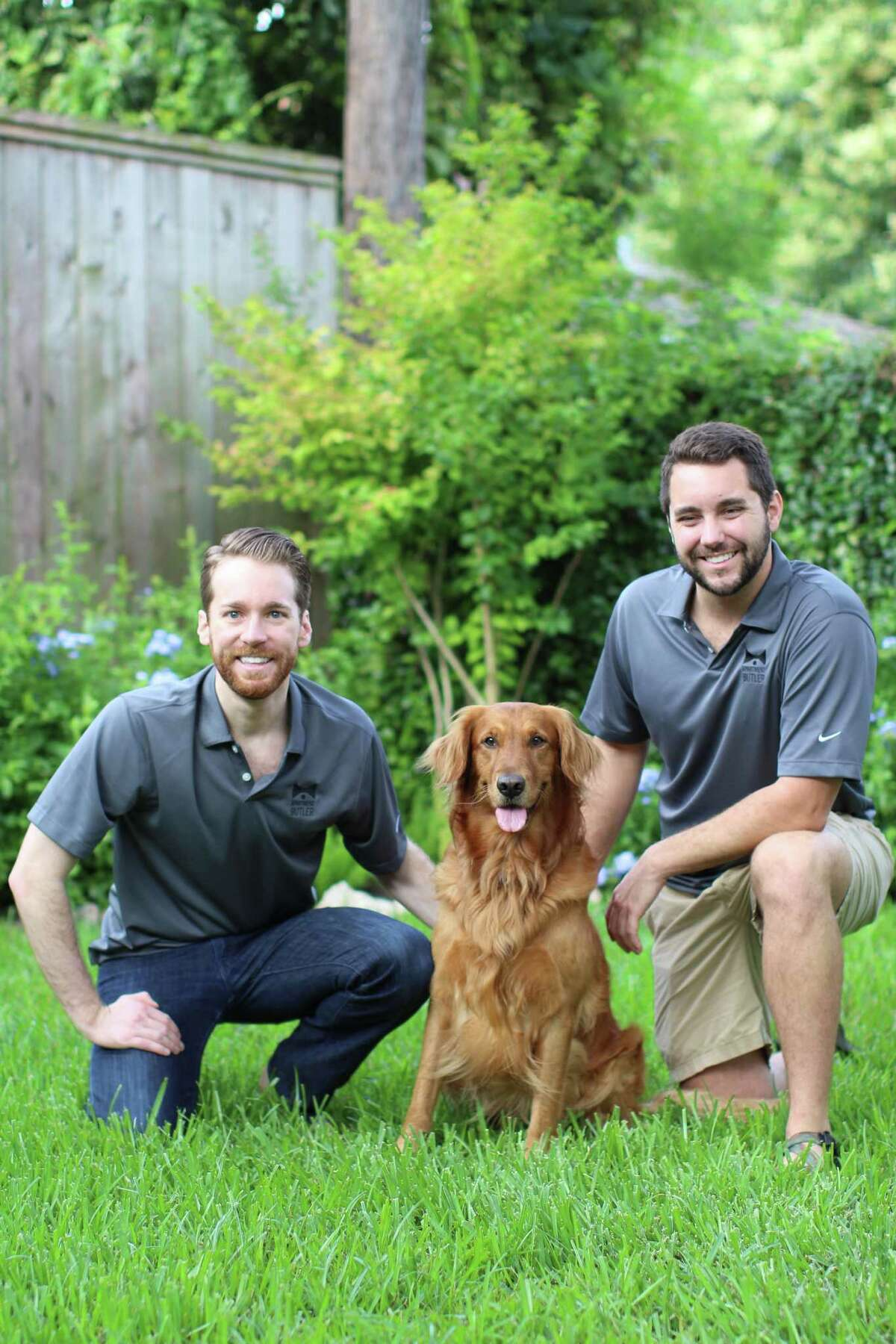 Ben Johnson, founder and CEO of Apartment Butler, left, and his brotherGarrett Johnson, operations manager. Residents of communities on the Apartment Butler platform can book services such as housekeeping, pet walking and dry cleaning through a mobile app.