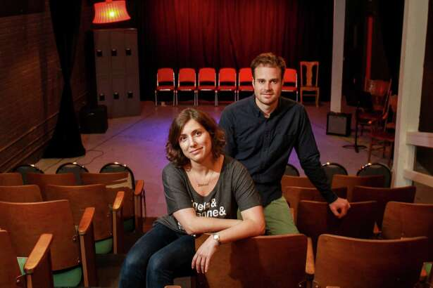 Stephanie Wittels Wachs and Matt Hune at Rec Room. (For the Chronicle/Gary Fountain, August 1, 2016)