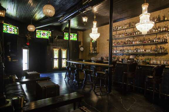The space at 244 W. Houston St. formerly occupied by the bar Juniper Tar (pictured) is being remodeled into the forthcoming Vanguard Trading Co., set to open later this summer.