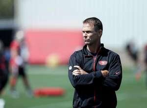 San Francisco 49ers general manager Trent Baalke during NFL football training camp Sunday, July 31, 2016, in Santa Clara, Calif. (AP Photo/Marcio Jose Sanchez)